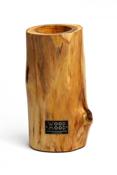 Свеча в дереве с ароматом меда и дерева L WM_ubud_L, фото 4 - в интеренет магазине KAPSULA