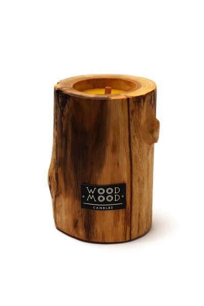 Свеча в дереве с ароматом меда и дерева M WM_ubud_m, фото 7 - в интеренет магазине KAPSULA
