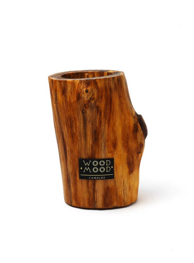 Свеча в дереве с ароматом меда и дерева M WM_ubud_m, фото 1 - в интеренет магазине KAPSULA