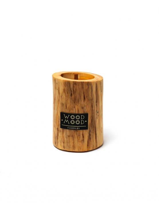 Свеча в дереве с ароматом меда и дерева S WM_ubud_s, фото 4 - в интеренет магазине KAPSULA