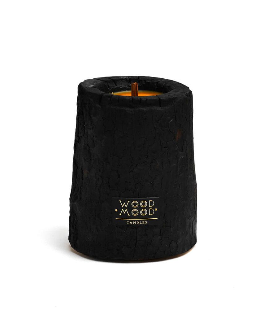 Свеча в дереве обожжённая с ароматом мяты  M WM_volcano_m, фото 1 - в интеренет магазине KAPSULA