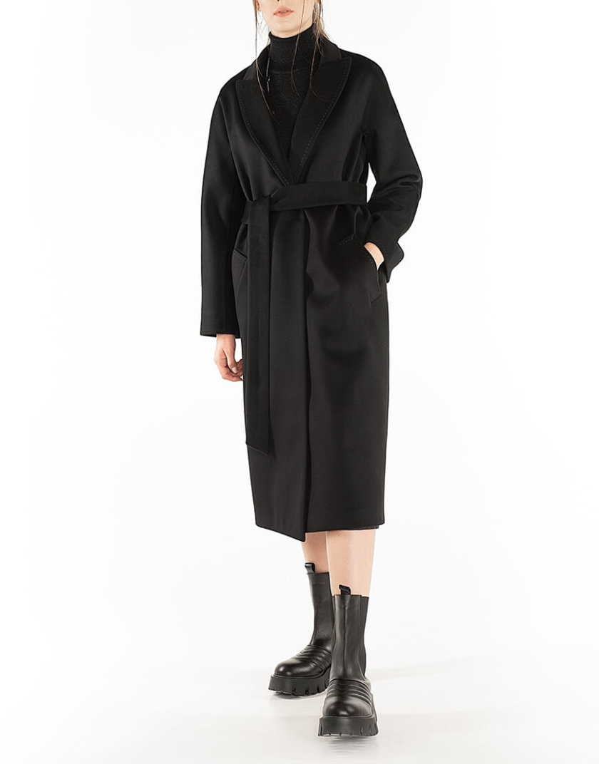Пальто из кашемира с поясом Black WNDR_Fw1920_cshbl_11_black, фото 1 - в интернет магазине KAPSULA