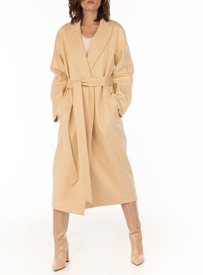 Пальто из кашемира с поясом Milk WNDR_Fw1920_cshm_11_milk, фото 1 - в интернет магазине KAPSULA