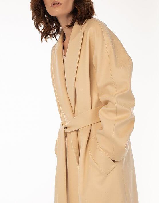 Пальто из кашемира с поясом Milk WNDR_Fw1920_cshm_11_milk, фото 8 - в интеренет магазине KAPSULA
