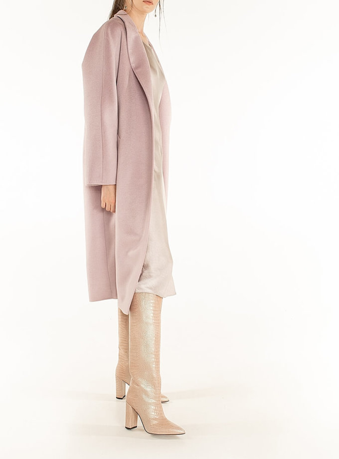 Пальто из кашемира с поясом Lilac WNDR_Fw1920_cshwp_11_purple, фото 1 - в интернет магазине KAPSULA