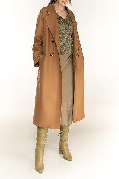 Двубортное пальто c рукавом реглан Camel WNDR_fw1920_ccan02, фото 1 - в интеренет магазине KAPSULA