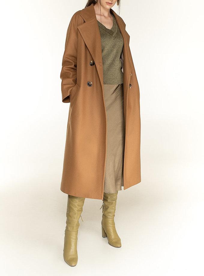 Двубортное пальто c рукавом реглан Camel WNDR_fw1920_ccan02, фото 1 - в интернет магазине KAPSULA