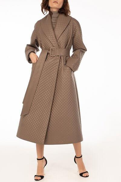 Стеганое пальто из эко-кожи Capuchino WNDR_fw2021_spcap_02, фото 1 - в интеренет магазине KAPSULA