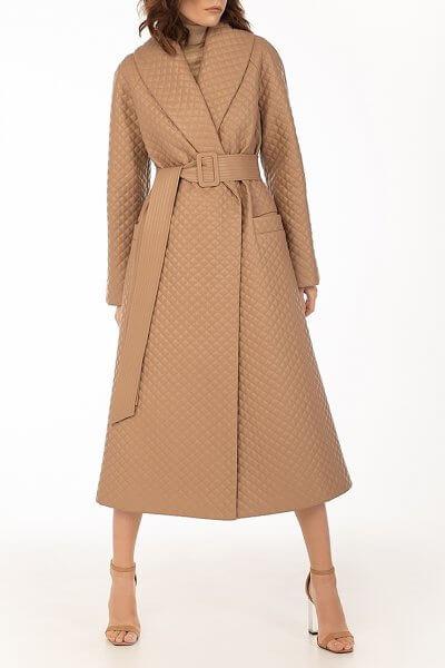 Стеганое пальто из эко-кожи Caramel WNDR_fw2021_spcar_02, фото 1 - в интеренет магазине KAPSULA