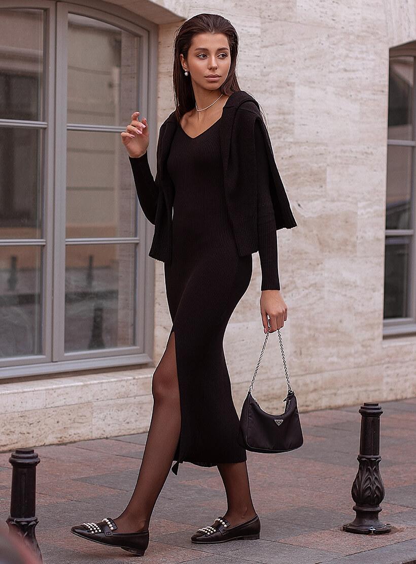Платье MARA с разрезом JDW_J.D.0410, фото 1 - в интернет магазине KAPSULA