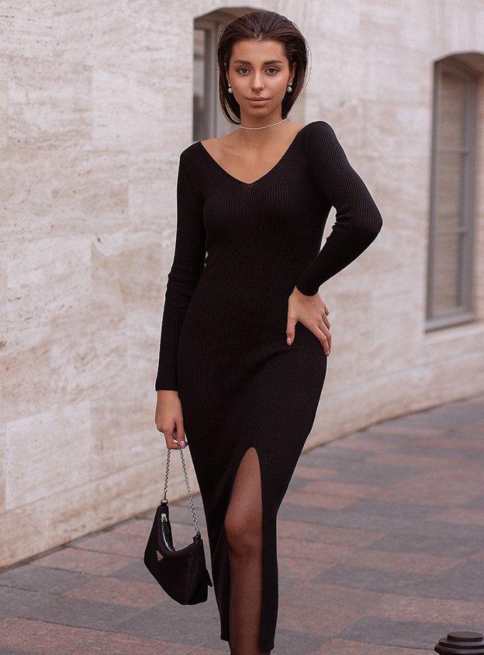 Платье MARA с разрезом JDW_J.D.0410, фото 1 - в интеренет магазине KAPSULA