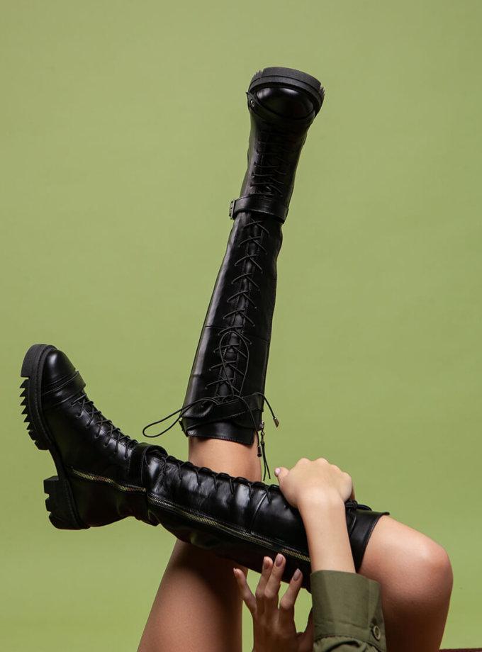 Кожаные ботинки Lara Сroft на флисе ED_LRCR-f-01, фото 1 - в интеренет магазине KAPSULA