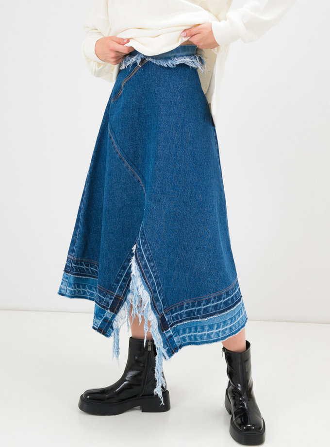 Ассиметричная юбка миди WNDM_skrtrw, фото 1 - в интеренет магазине KAPSULA