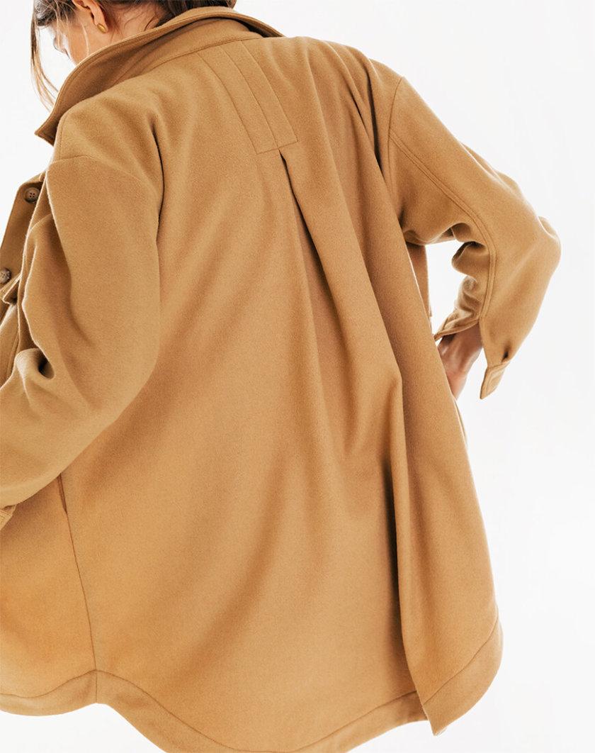 Рубашка из шерсти с накладными карманами BLCGR_BLCN728, фото 1 - в интернет магазине KAPSULA