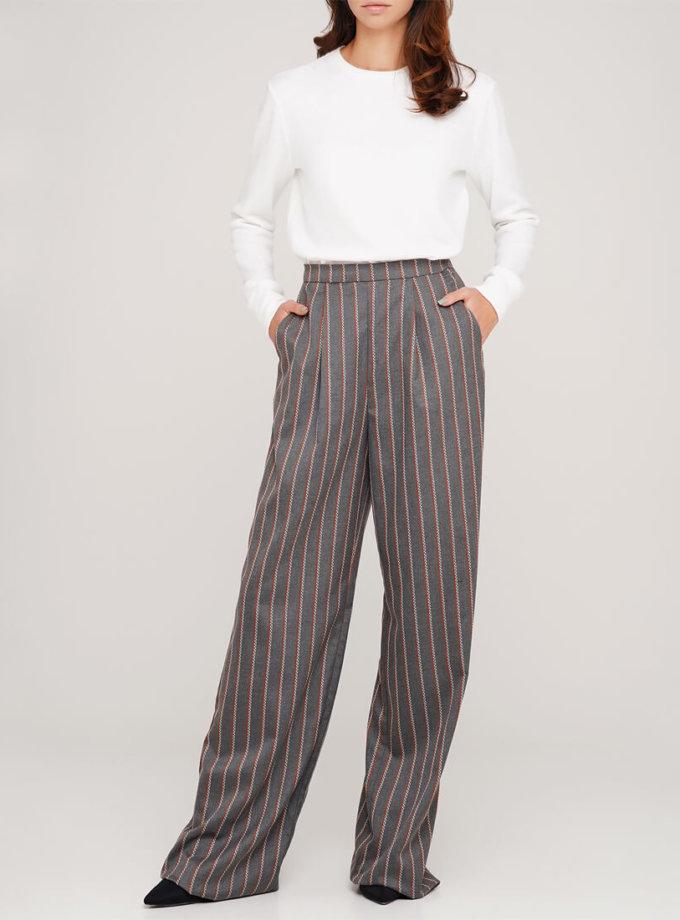 Широкие брюки из шерсти AY_3047, фото 1 - в интеренет магазине KAPSULA