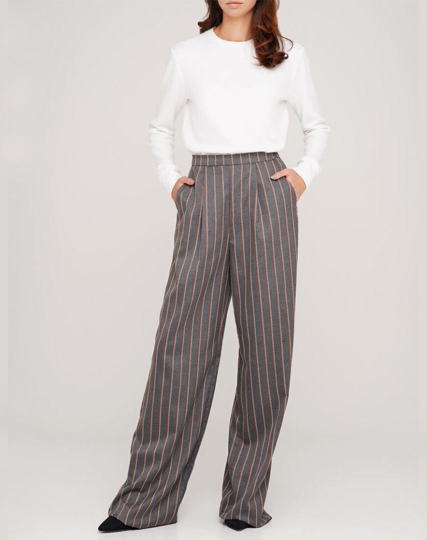 Широкие брюки из шерсти AY_3047, фото 1 - в интернет магазине KAPSULA