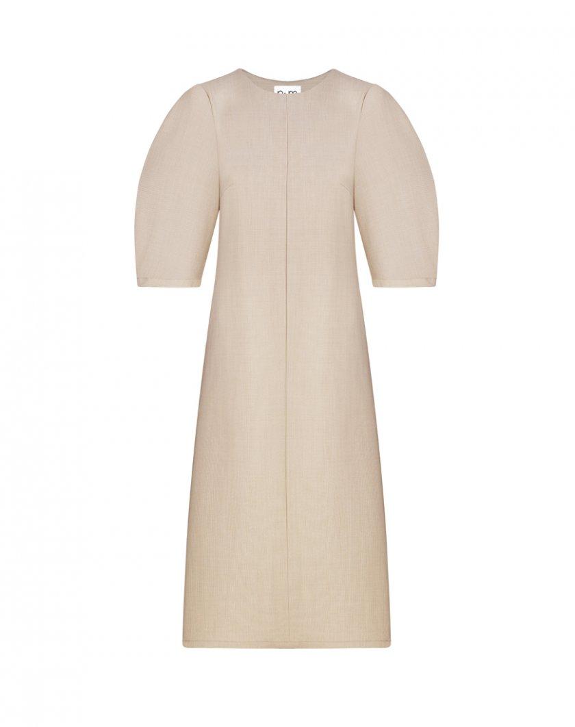 Платье из шерсти с рукавами-буфами NM_360, фото 1 - в интернет магазине KAPSULA