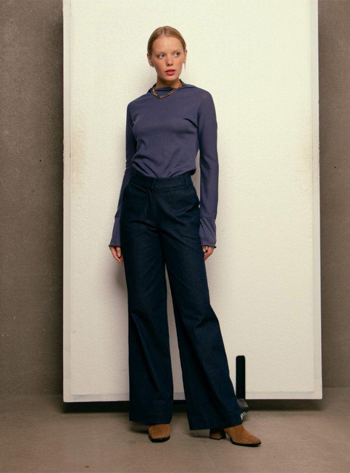 Широкие джинсы с отворотом NM_d10, фото 1 - в интернет магазине KAPSULA
