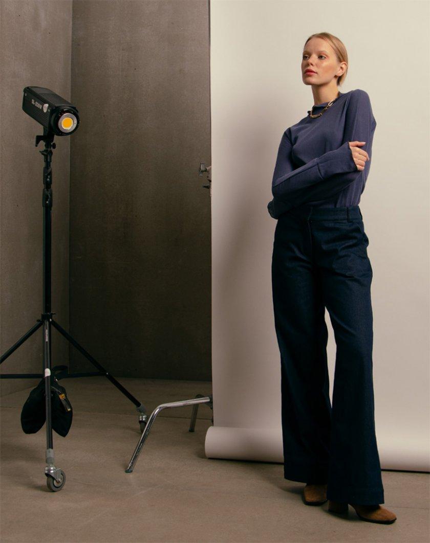 Широкие джинсы с отворотом NM_d10, фото 1 - в интеренет магазине KAPSULA