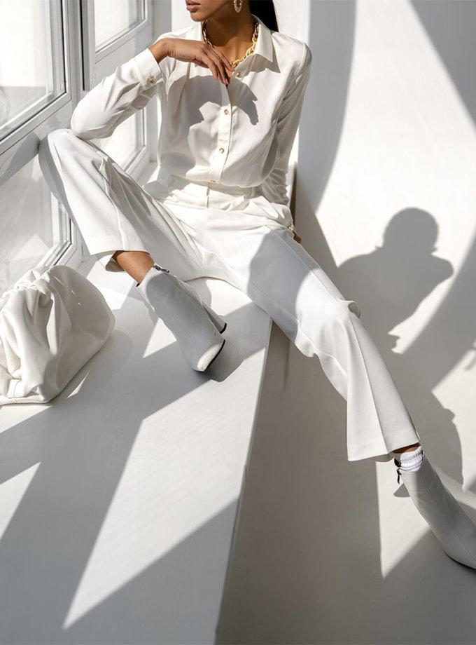 Блуза Malena с манжетами MC_MY1021-2, фото 1 - в интеренет магазине KAPSULA