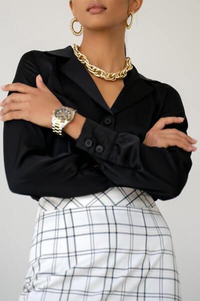 Блуза Malena с манжетами MC_MY1021-3, фото 1 - в интеренет магазине KAPSULA