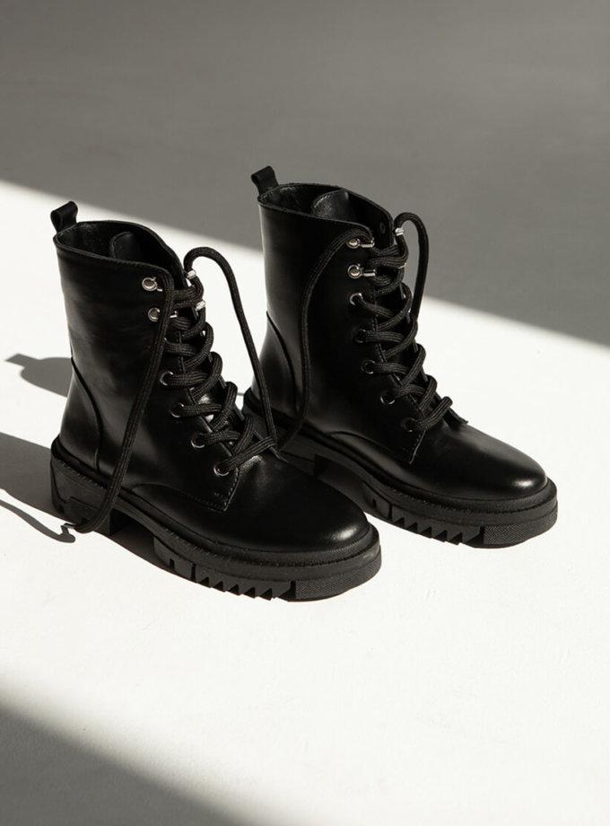 Кожаные ботинки на флисе ED_BCK-01, фото 1 - в интернет магазине KAPSULA