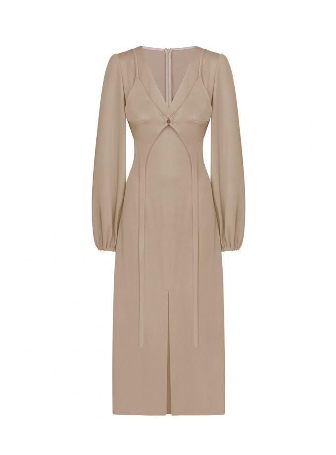 Платье со съемным бюстье SAYYA_FW1072, фото 1 - в интернет магазине KAPSULA