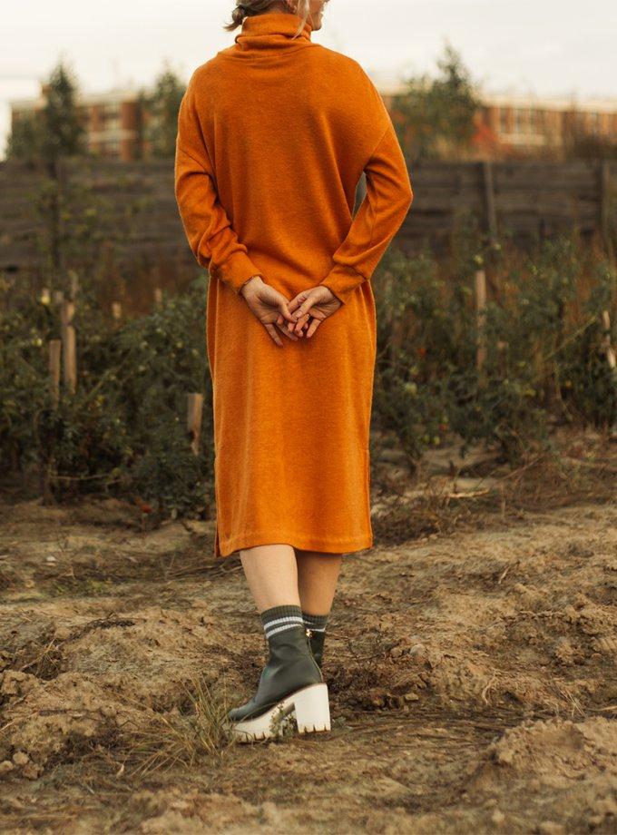 Платье прямого силуэта с разрезами MNTK_MTDRF201, фото 1 - в интеренет магазине KAPSULA