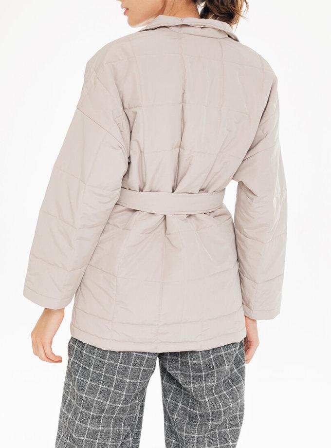 Стеганая куртка с поясом BLCGR_BLCN732, фото 1 - в интернет магазине KAPSULA