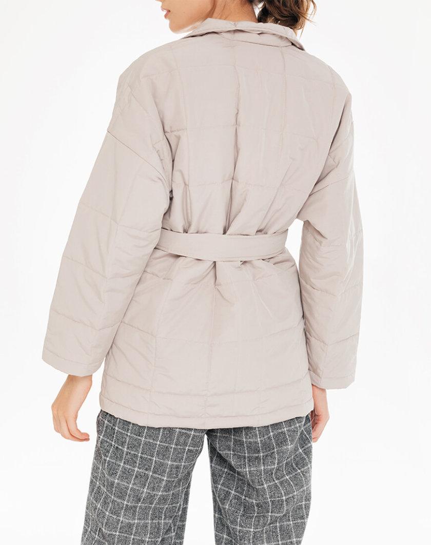 Стеганая куртка с поясом BLCGR_BLCN732, фото 1 - в интеренет магазине KAPSULA