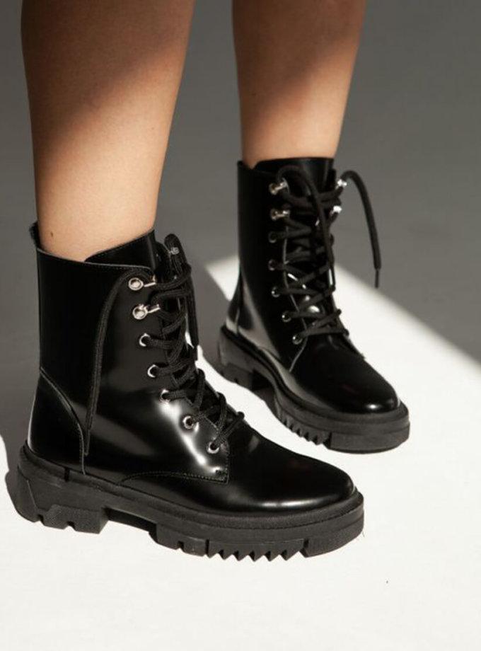 Лаковые ботинки на флисе ED_BCL-01, фото 1 - в интернет магазине KAPSULA