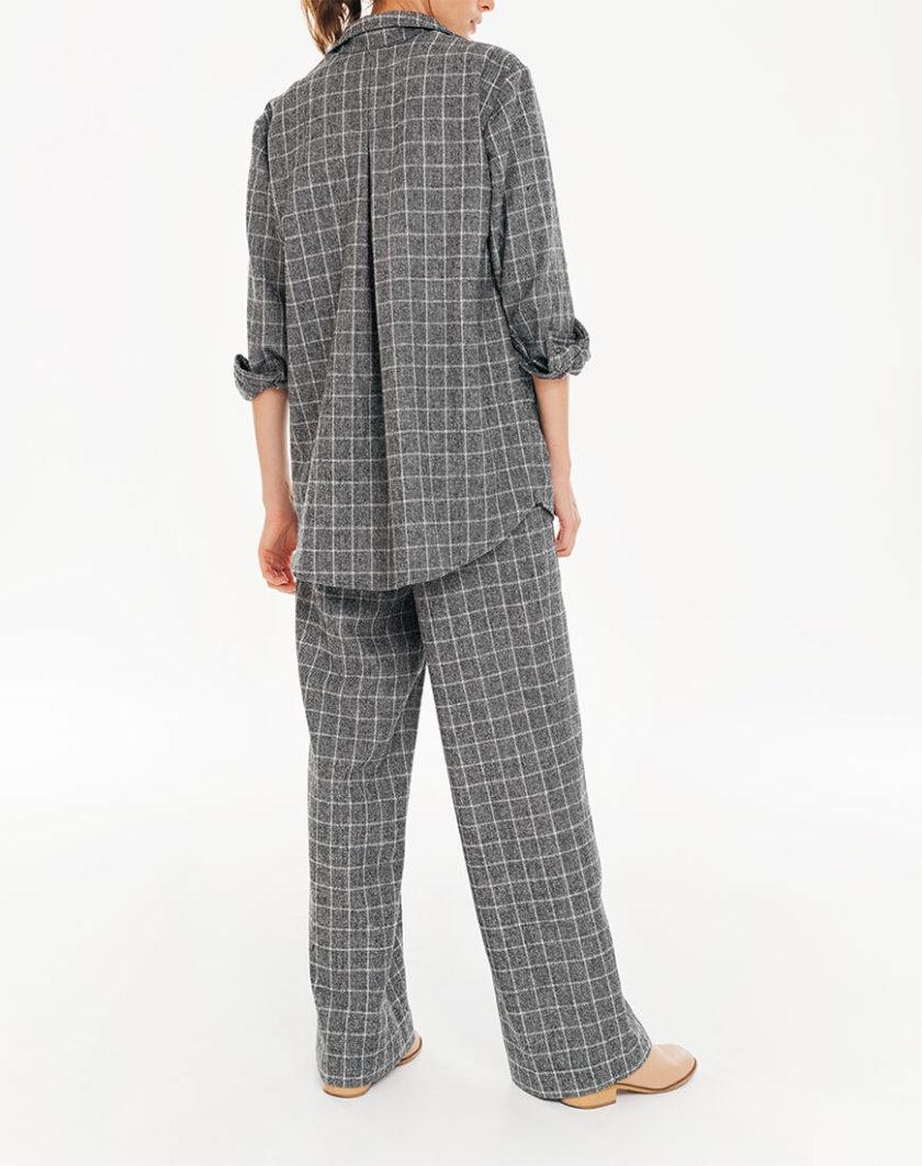 Рубашка в клетку с накладными карманами BLCGR_BLCN735, фото 1 - в интернет магазине KAPSULA