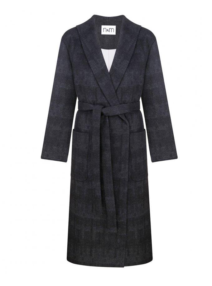 Пальто из шерсти с поясом NM_397, фото 1 - в интернет магазине KAPSULA