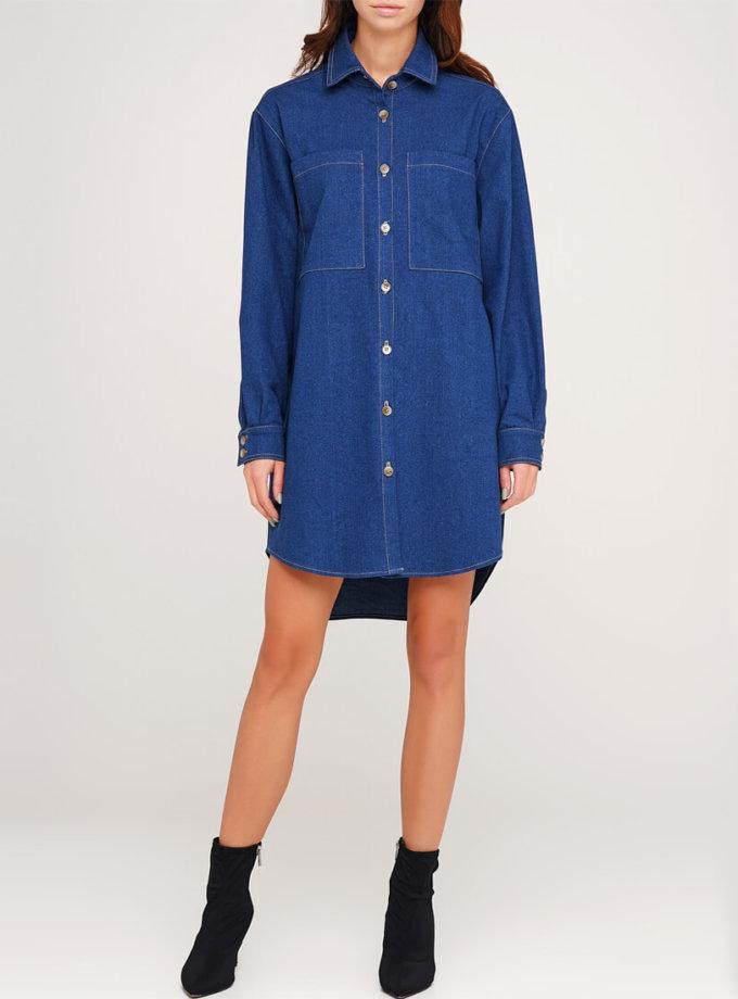 Платье-рубашка из денима AY_3042, фото 1 - в интеренет магазине KAPSULA