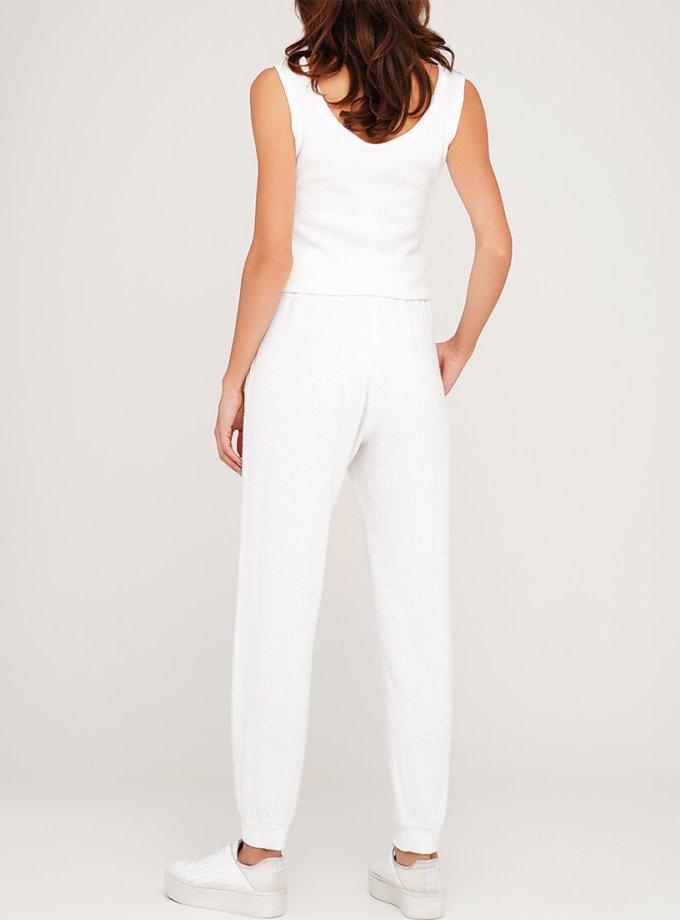 Белые ангоровые брюки AY_3066, фото 1 - в интернет магазине KAPSULA