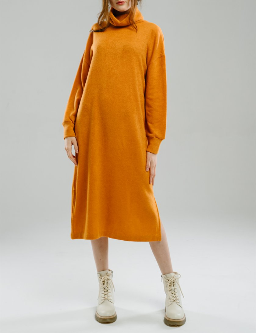 Платье прямого силуэта с разрезами MNTK_MTDRF201, фото 1 - в интернет магазине KAPSULA