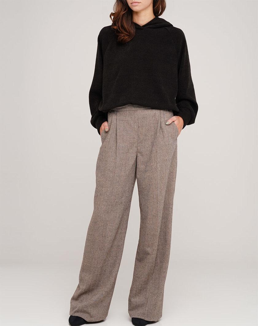 Широкие брюки из шерсти AY_3067, фото 1 - в интернет магазине KAPSULA