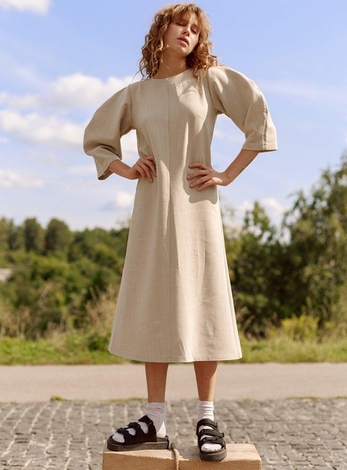 Платье из шерсти с рукавами-буфами NM_360, фото 1 - в интеренет магазине KAPSULA