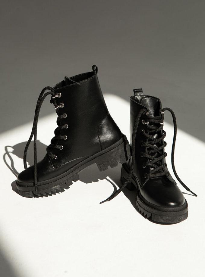 Кожаные ботинки на меху ED_BCK-z-01, фото 1 - в интеренет магазине KAPSULA