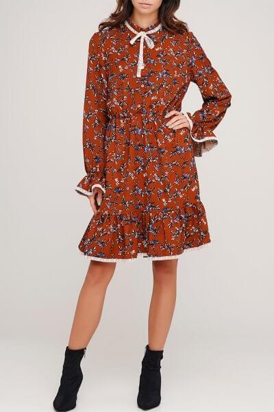 Платье в цветочный принт AY_3043, фото 1 - в интеренет магазине KAPSULA