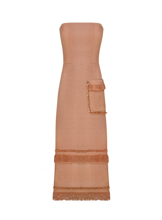 Платье-бюстье с бахромой SAYYA_FW1079, фото 1 - в интернет магазине KAPSULA