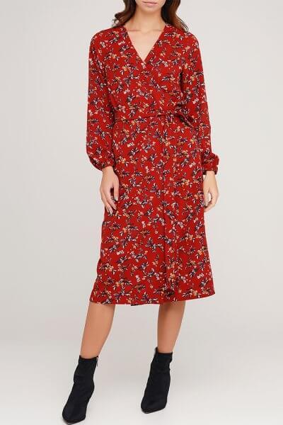 Платье миди на запах AY_3044, фото 1 - в интеренет магазине KAPSULA