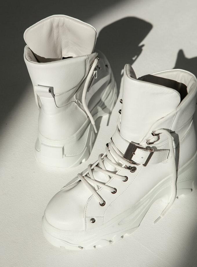 Кожаные ботинки Buffy на меху ED_BFz-02, фото 1 - в интеренет магазине KAPSULA