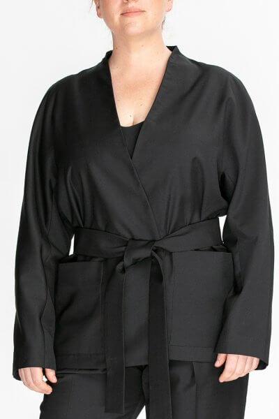 Жакет-кимоно на запах ALOT_500221, фото 1 - в интеренет магазине KAPSULA