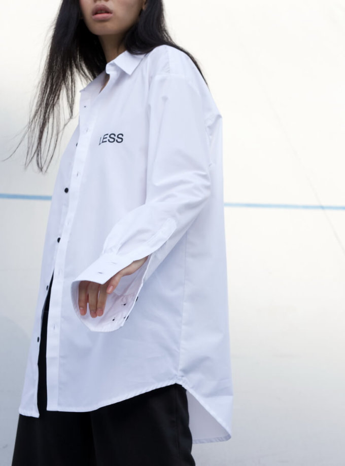 Хлопковая рубашка в принт Gender Less BI_FW100, фото 1 - в интеренет магазине KAPSULA