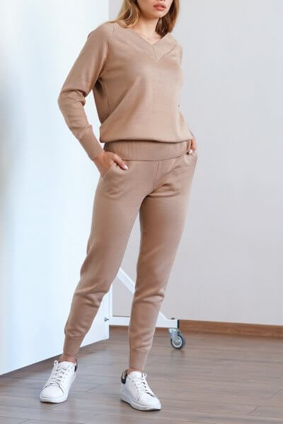 Вязаный костюм из хлопка CHMSP_CS_18297, фото 1 - в интеренет магазине KAPSULA