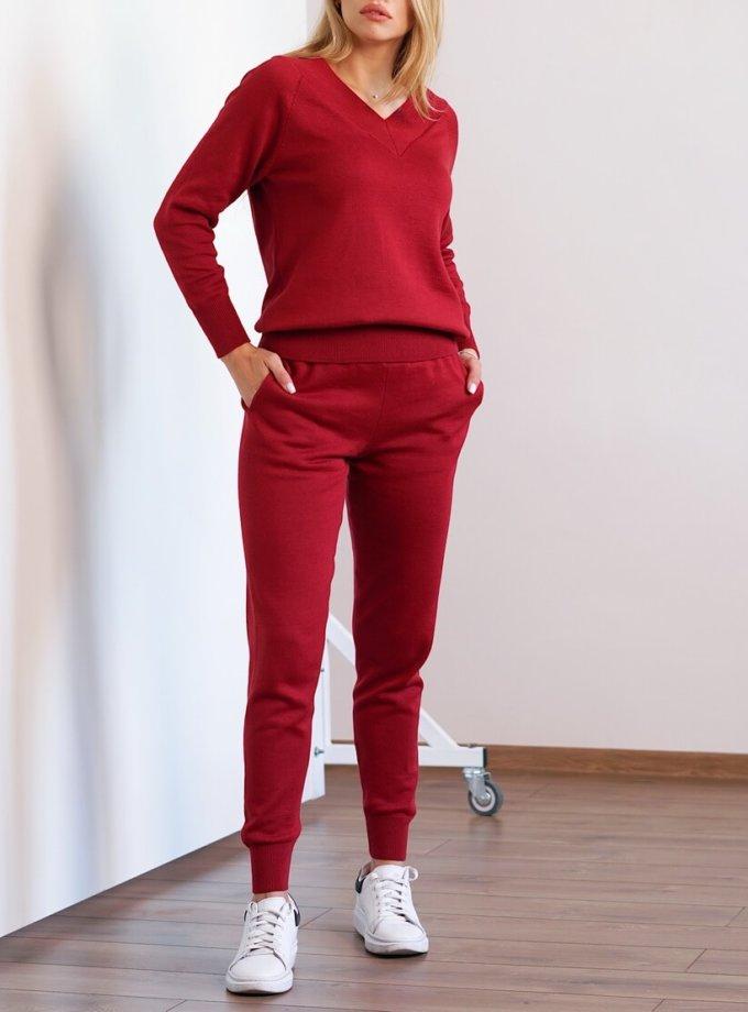 Вязаный костюм из хлопка CHMSP_CS_18298, фото 1 - в интернет магазине KAPSULA