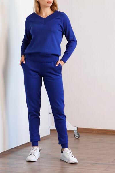 Вязаный костюм из хлопка CHMSP_CS_18300, фото 1 - в интеренет магазине KAPSULA