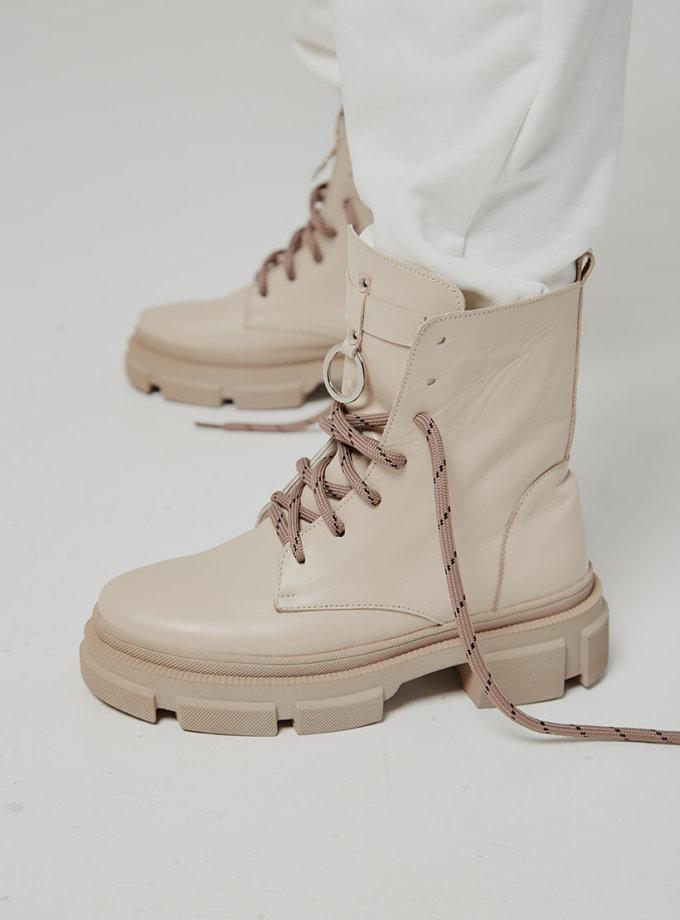Кожаные ботинки Legion на флисе ED_LG-16, фото 1 - в интеренет магазине KAPSULA