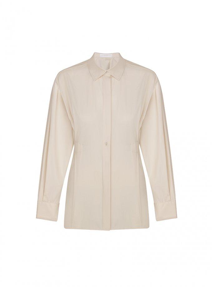 Хлопковая рубашка с защипами SAYYA_FW1065, фото 1 - в интернет магазине KAPSULA